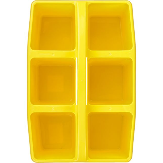 Six-Equal-Compartment Caddies - Single-Color Set Of 12