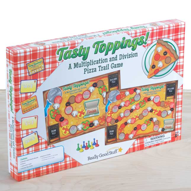Tasty Toppings! A Multiplication And Division Pizza Trail Game - 1 game