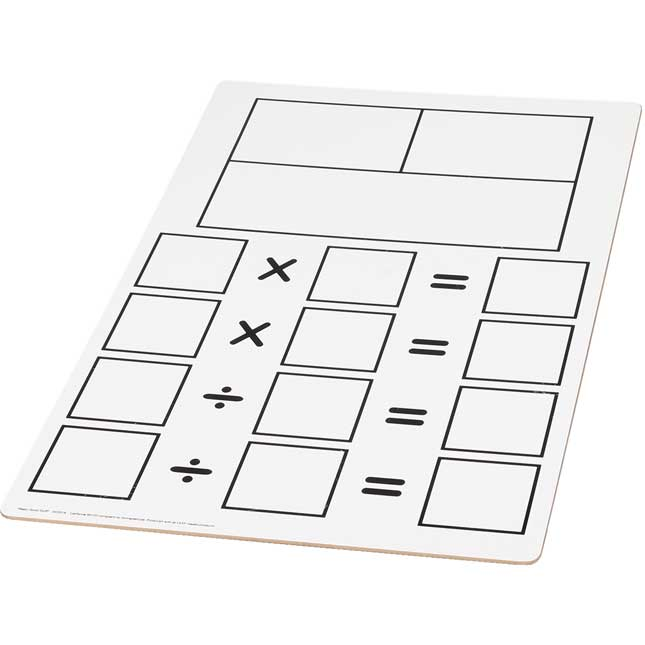 Teacher Demonstration Fact Family Dry Erase Board - Multiplication And Division - 1 board