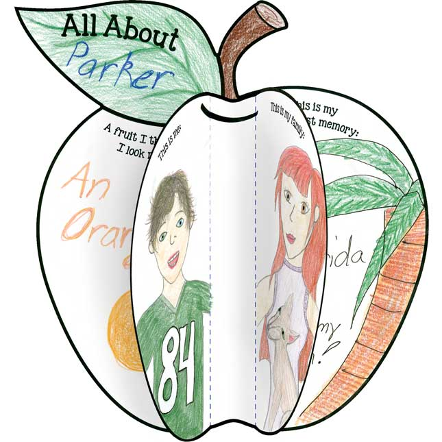 Ready-To-Decorate™ All About Me 3-D Apples - 24 diecut apples