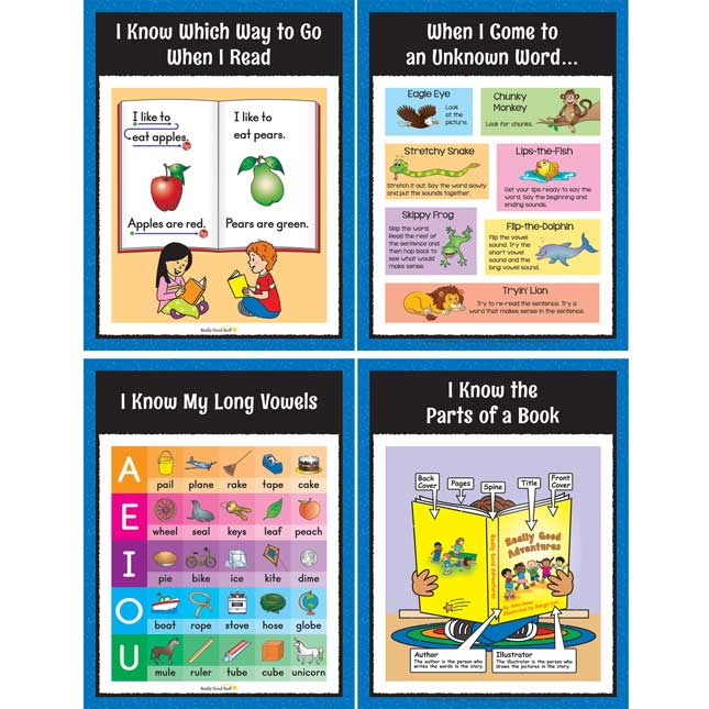 Reading Center Work Office Cards - Grade K - 30 cards