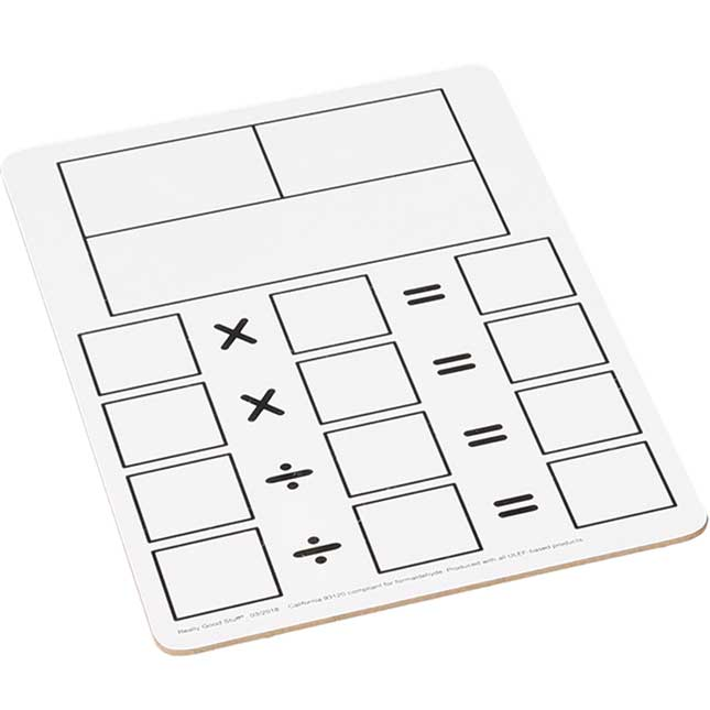 Fact Family Dry Erase Boards - Multiplication And Division
