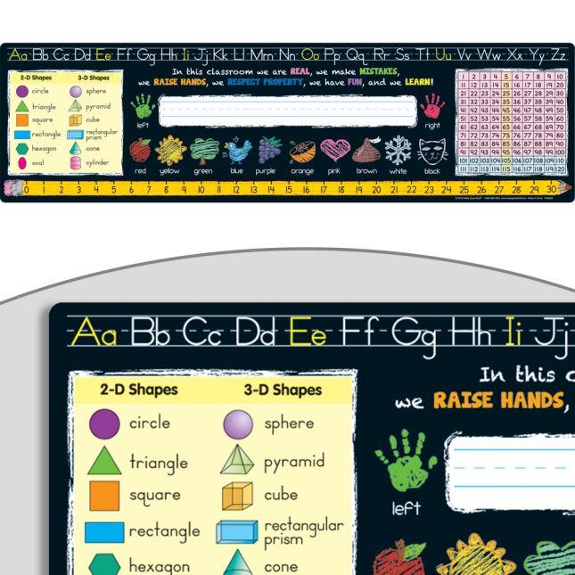 Chalkboard-Style Self-Adhesive Deluxe Plastic Desktop Helpers™ - Primary - 24 helpers_0