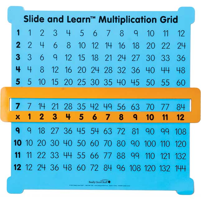 Magnetic Teacher Demonstration Multiplication Grid