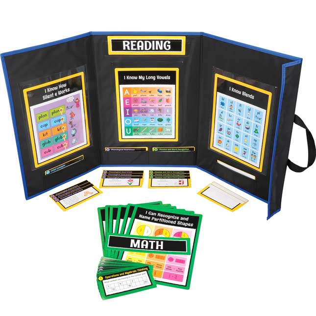 Math And Reading Center Work Office Kit - Grade 1 - 1 station, 60 cards