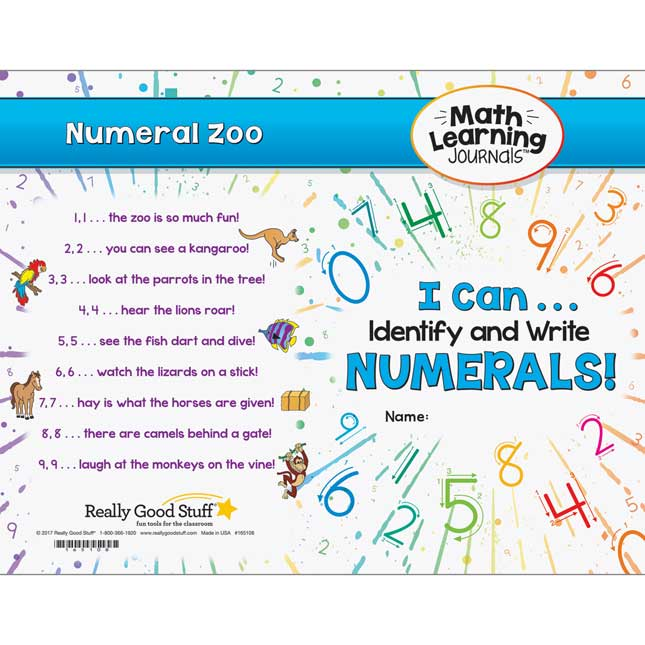 Math Learning Journals™ - I Can Identify And Write Numerals!