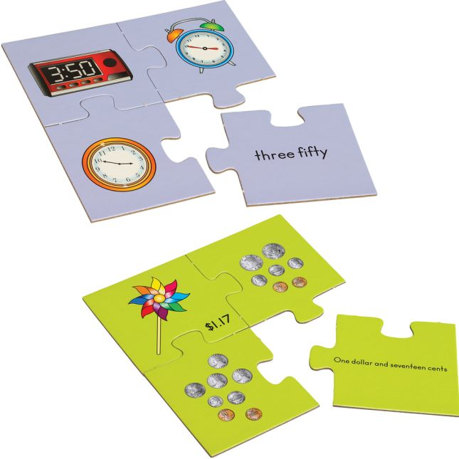 Number Match Puzzles™ - Time And Money Set
