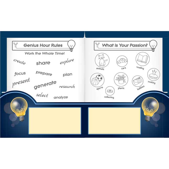 Genius Hour 2-Pocket Folders - 12 folders