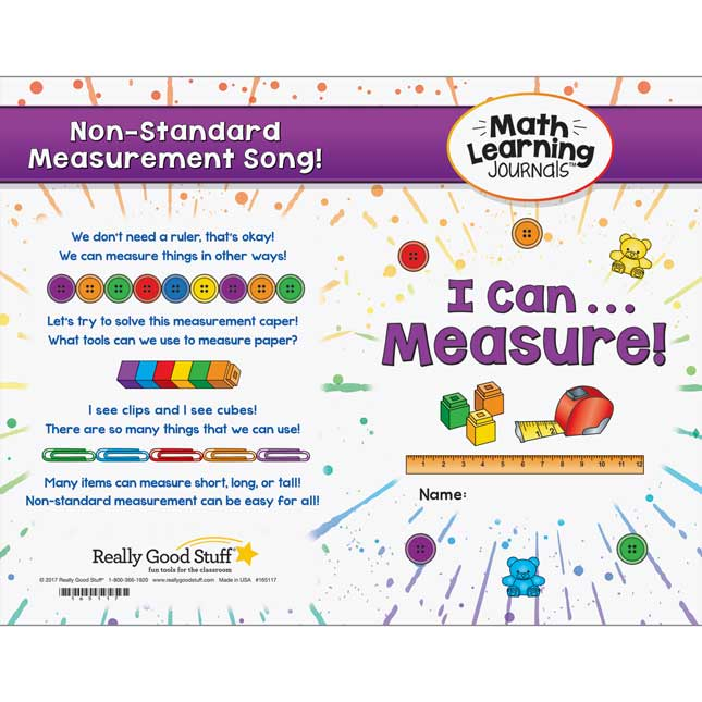 Math Learning Journals™ - I Can Measure! - 24 journals