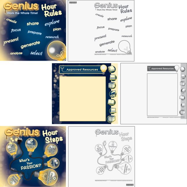 Genius Hour Mini-Posters - 6 posters