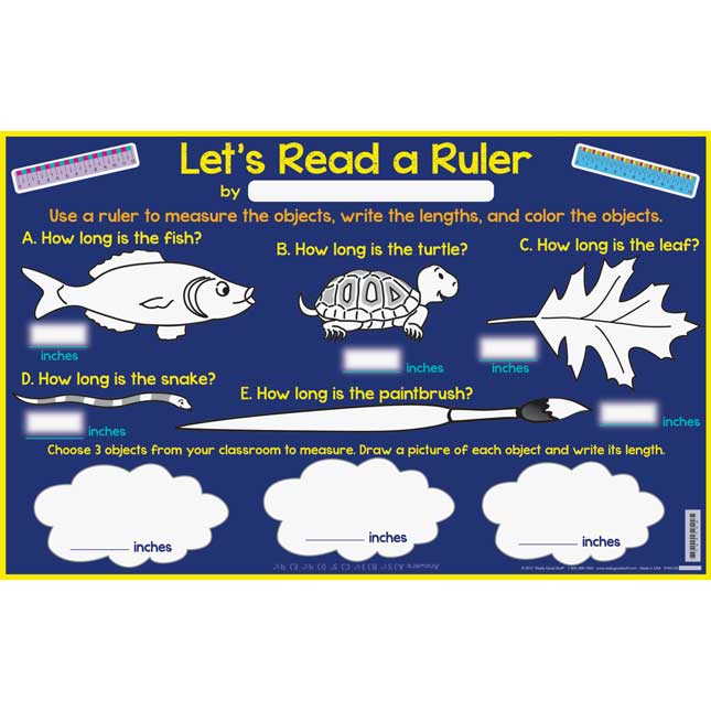 Let's Read A Ruler Activity Mats