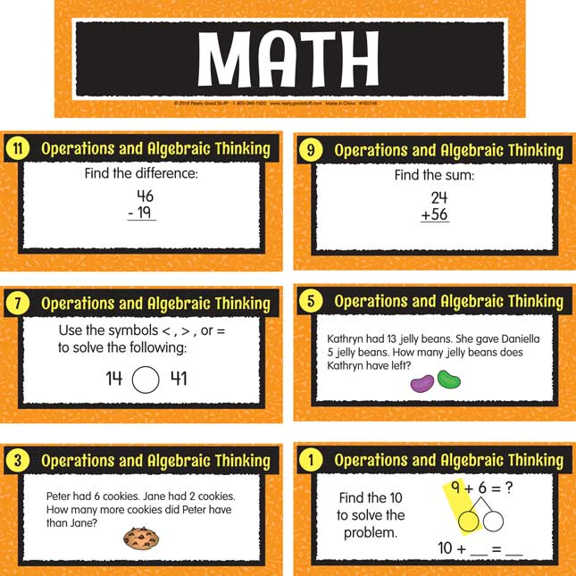 Math Center Work Office Cards - Grade 2