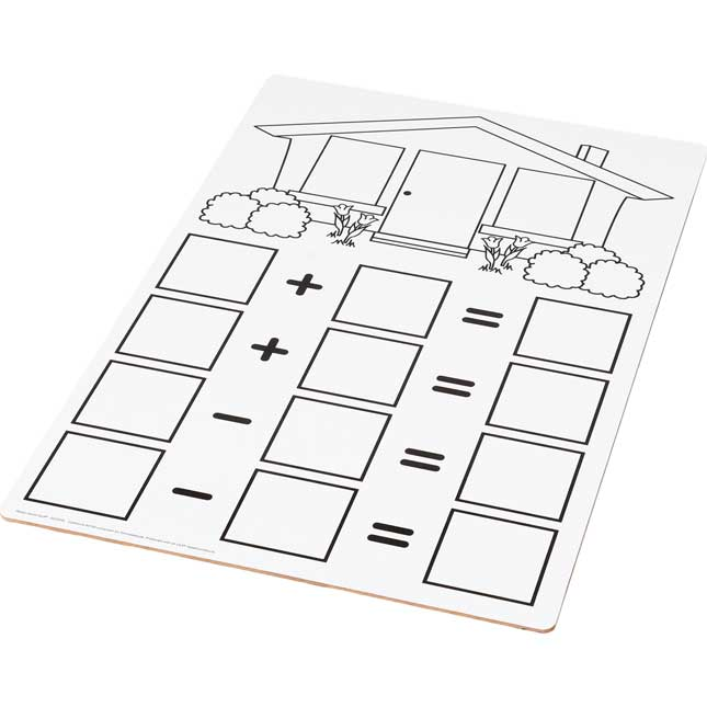 Teacher Demonstration Fact Family Dry Erase Board - Addition And Subtraction