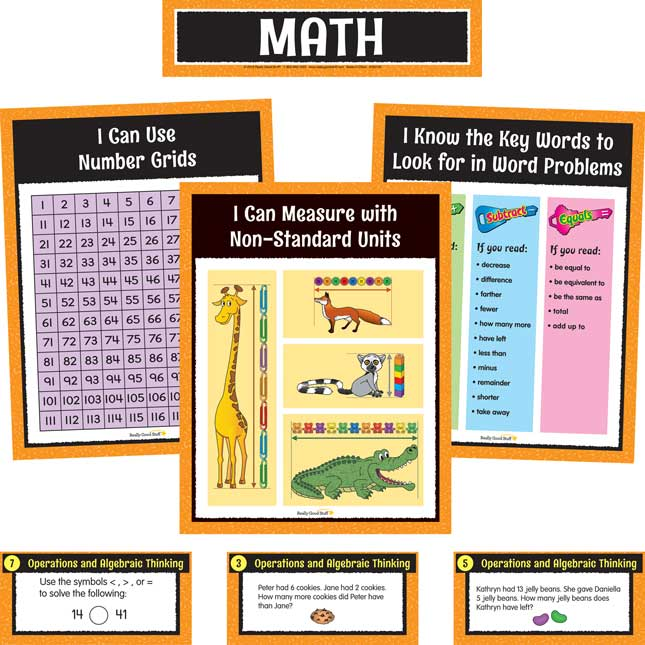 Math And Reading Center Work Office Kit - Grade 2 - 1 station, 60 cards