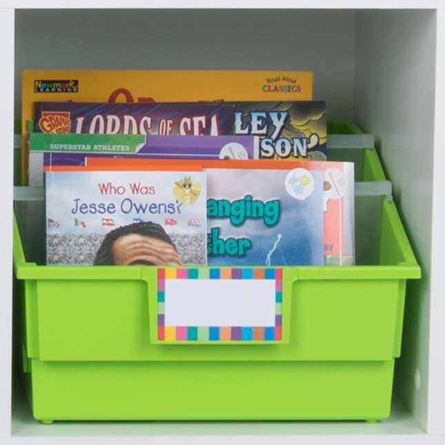 Neon Pop 6-Pack - Picture Book Bins With Dividers
