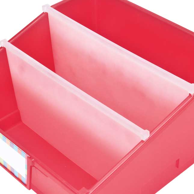4-Pack Single-Color Picture Book Classroom Library Bins™ With Dividers