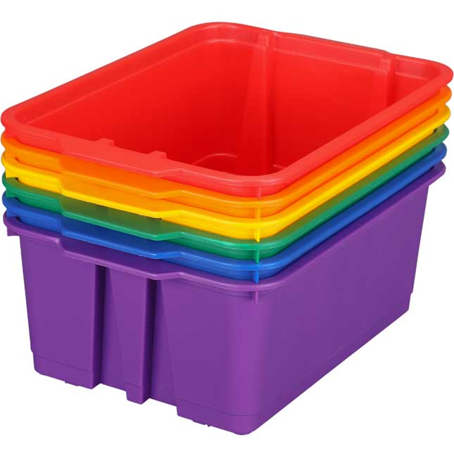 Group Colors For 6 - Classroom Stacking Bins