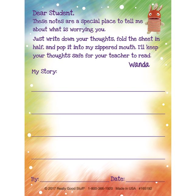 Worry Monster Notepad Refill