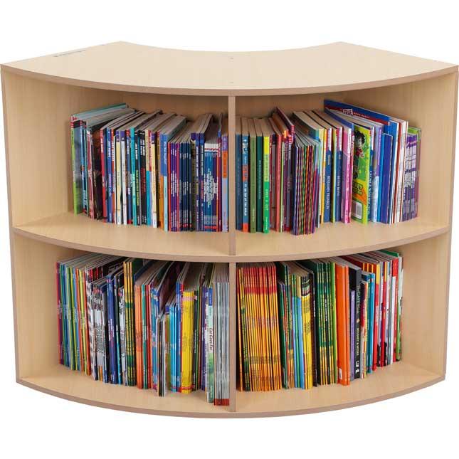 Curved Bookshelf - Oak - 1 bookshelf