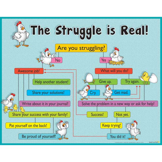 The Struggle Is Real! Poster
