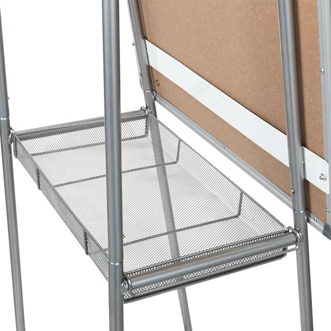 Portable Classroom Easel With Bins - 1 easel, 2 bins