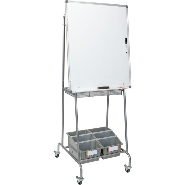 Portable Classroom Easel With Bins - 1 easel, 2 bins