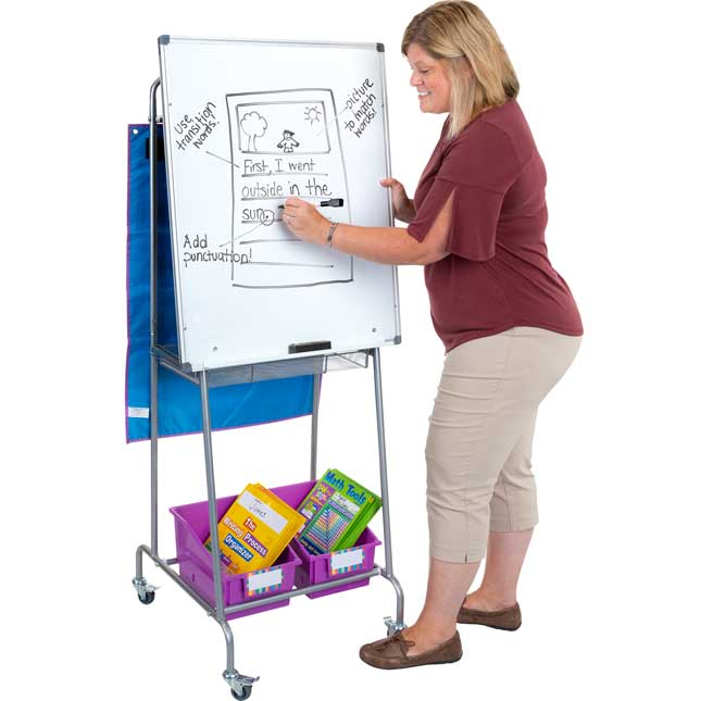 Portable Classroom Easel With Bins