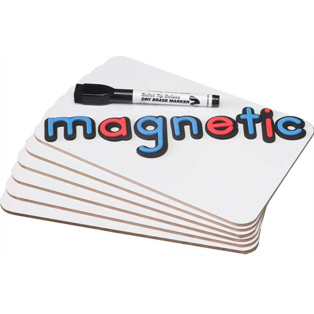 """9"""" X 6"""" Mini Magnetic Dry Erase Boards - Set Of 6"""