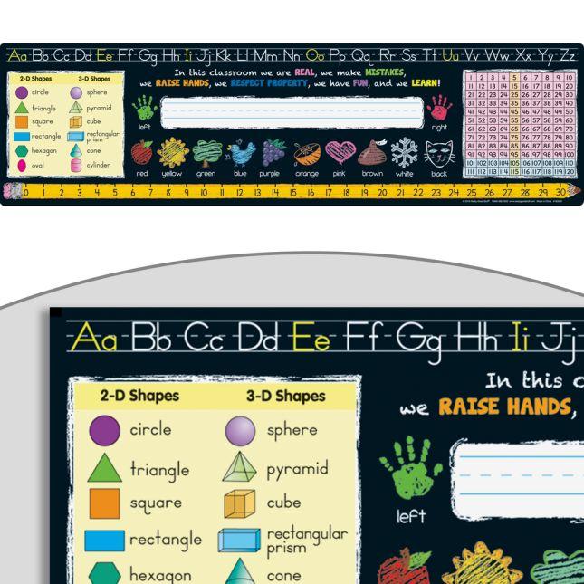 Chalkboard-Style Self-Adhesive Vinyl Desktop Helpers™ - Primary