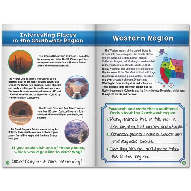 Social Studies Learning Journals™ - Regions Of The United States