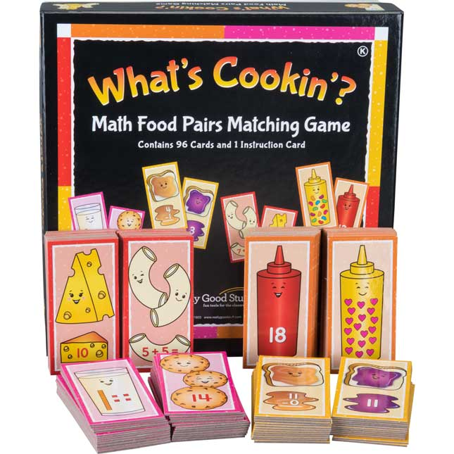 What's Cookin'? Math Food Pairs Matching Game - Kindergarten