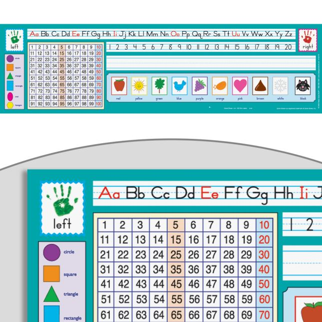 Zaner-Bloser 100 Grid Self-Adhesive Vinyl Desktop Helpers™ - Set Of 24