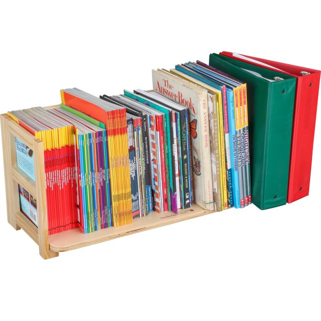 Folding Book Rack - Oak