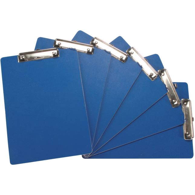 Blue Clipboards And Double Clipboard Stand