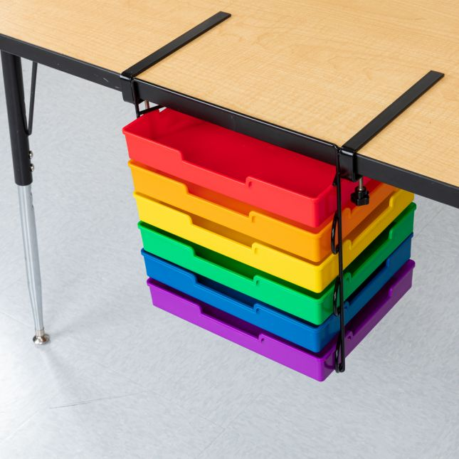 EZ Clamp™ Organization Station With 6-Color Trays - Black