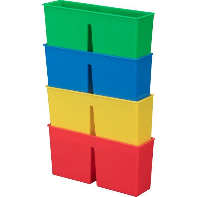 Plastic Magnetic Storage Bin - 4 Colors