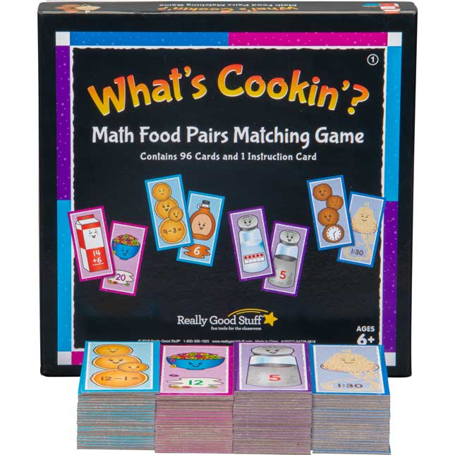 What's Cookin'? Math Food Pairs Matching Game - First Grade