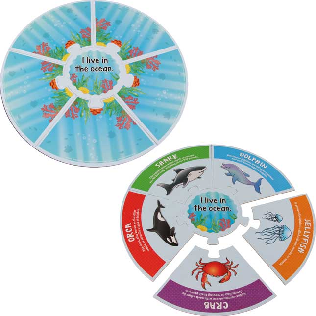 Animal Habitats Puzzles - 5 puzzles