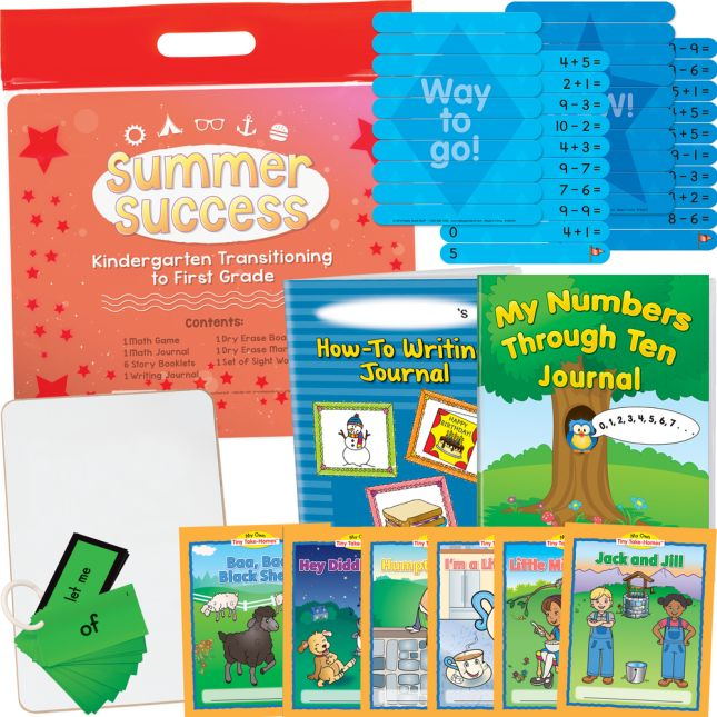 Summer Success Kit - Kindergarten Transitioning To First Grade