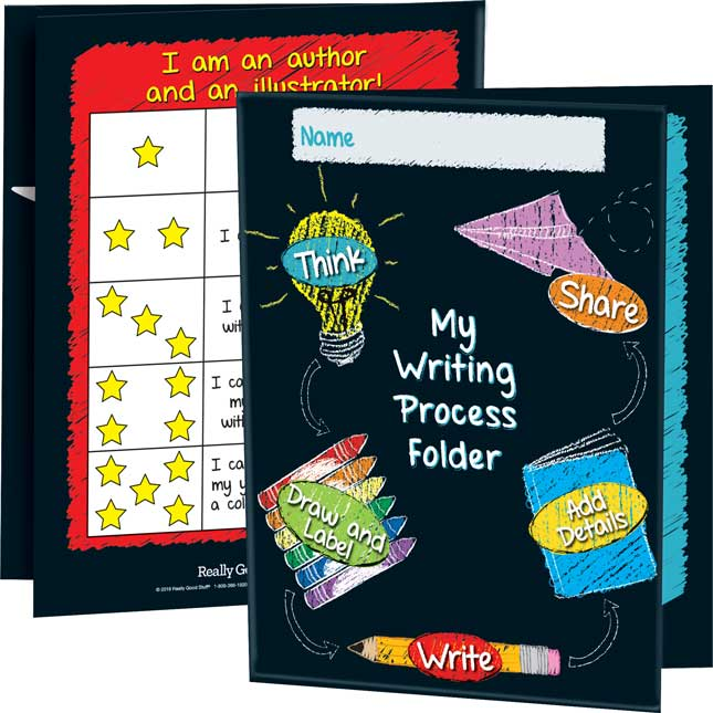 Early Writing Process Tri-Fold 3-Pocket Folders