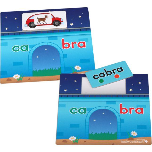 ¡Cruza el puente hábilmente! Juego de sílabas trabadas (Spanish Syllable Blends Bridge Game) - 1 game