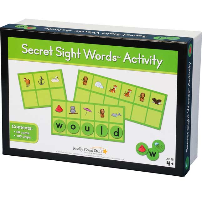 Secret Sight Words™ Activity - 50 cards, 183 chips