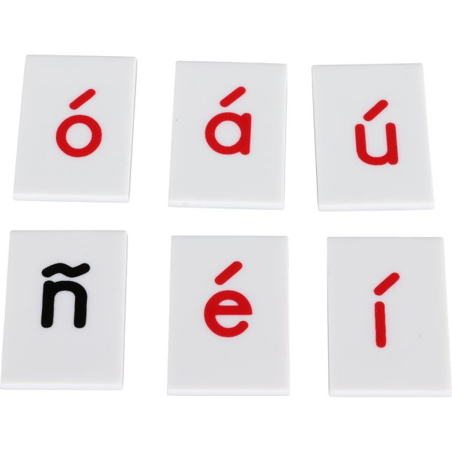 EZread™ Spanish Letter Tiles - 95 tiles