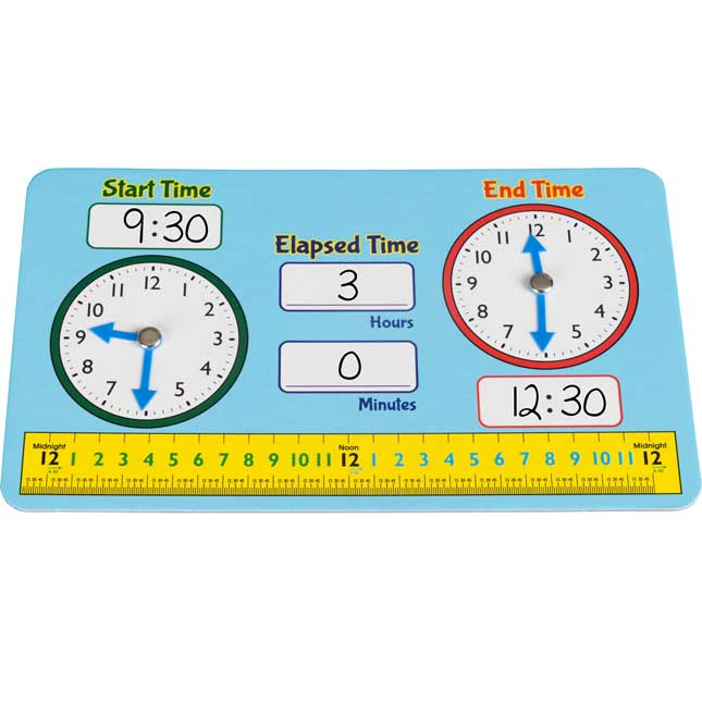 Dry Erase Elapsed Time Practice Boards - 6 boards