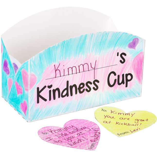 Ready-To-Decorate® Kindness Cups - 24 sets of cups and hearts