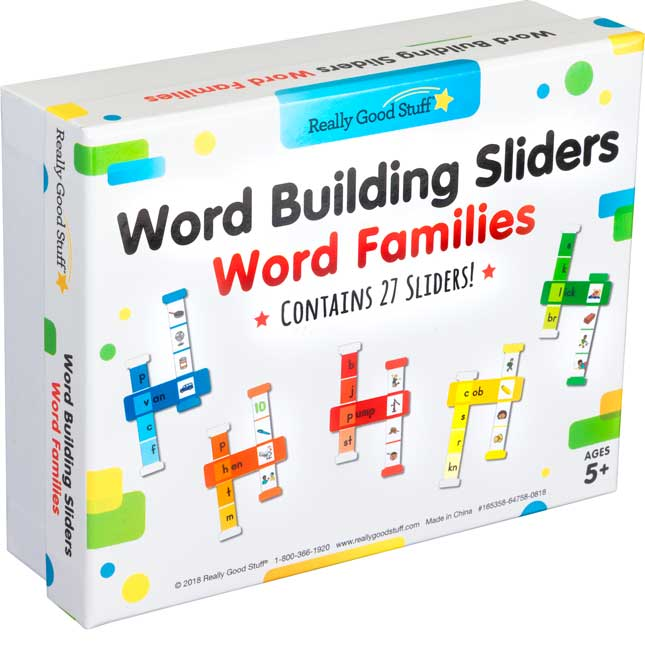Word Building Sliders: Word Families - 27 sliders_0
