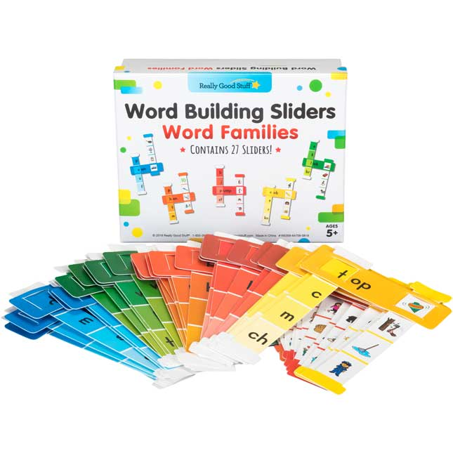 Word Building Sliders: Word Families - 27 sliders_1