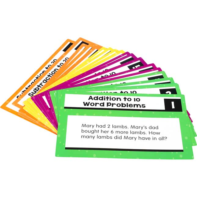 Rekenrek Task Cards - Addition And Subtraction To 20 Word Problems - 21 cards