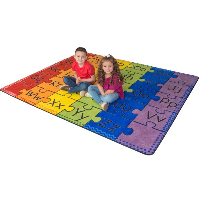 Group Colors Alphabet Rug
