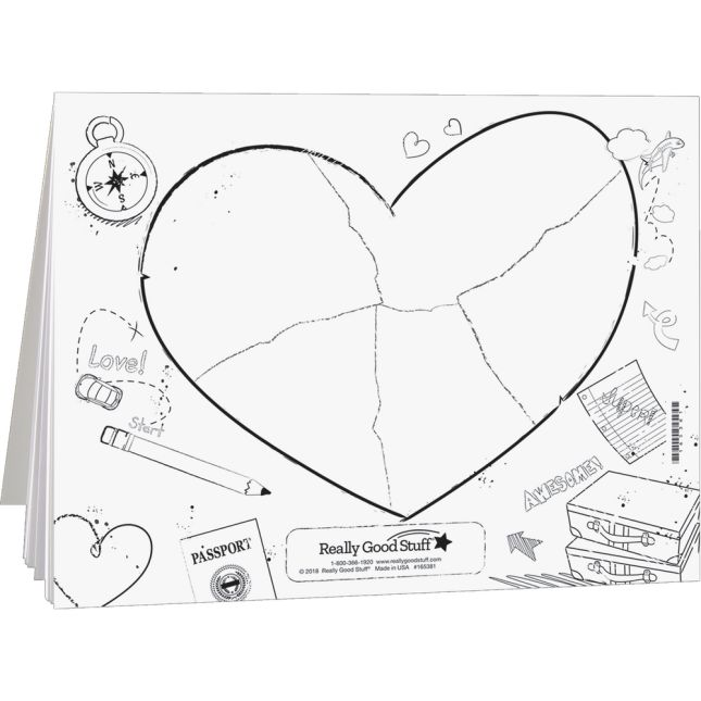 Ready-To-Decorate® Heart Map Journals
